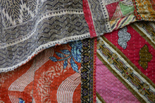 Load image into Gallery viewer, Queen Kantha Quilt #5