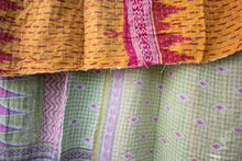 Load image into Gallery viewer, Single Kantha Quilt #323