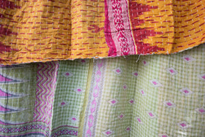 Single Kantha Quilt #323