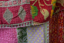 Load image into Gallery viewer, Queen Kantha Quilt #7