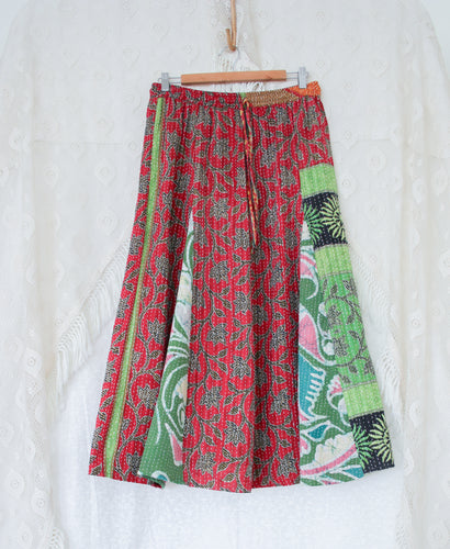 Kantha Midi Skirt L/XL (#323)