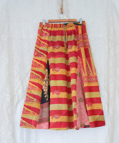Kantha Midi Skirt L/XL (#327)