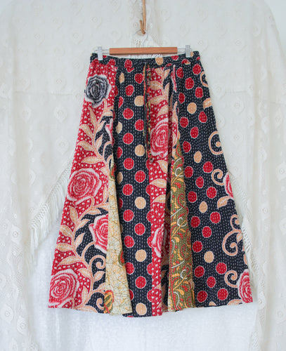 Kantha Midi Skirt L/XL (#331)