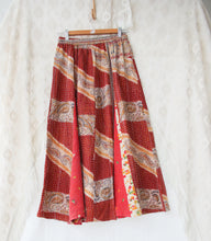 Load image into Gallery viewer, Kantha Midi Skirt S/M (#333)