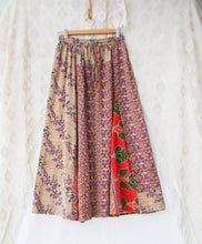 Load image into Gallery viewer, Kantha Midi Skirt S/M (#337)