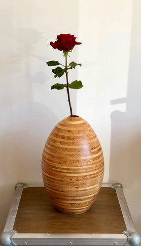 Vase en épicéa - Fait main - Made in France - Do Mokusai Arrondi à Verson - Caen - Normandie
