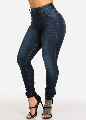Image of High Rise Skinny Jeans
