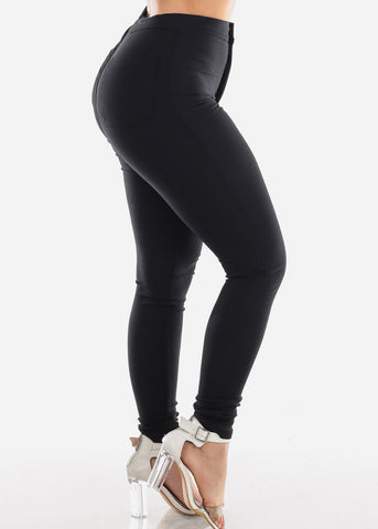 Image of Ultra High Waisted Black Super Stretchy Jegging Skinny Pants