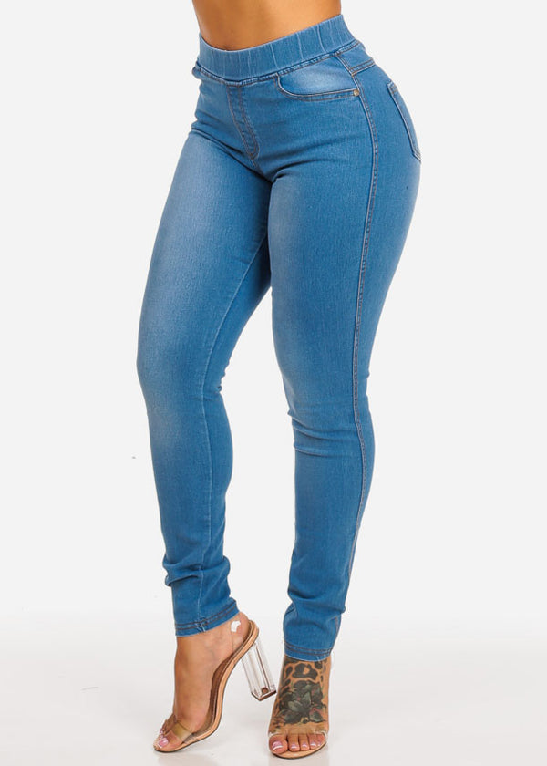 Basic High Rise Light Blue Skinny Jeans