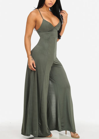 Sexy Evening Wear Green Jumpsuit