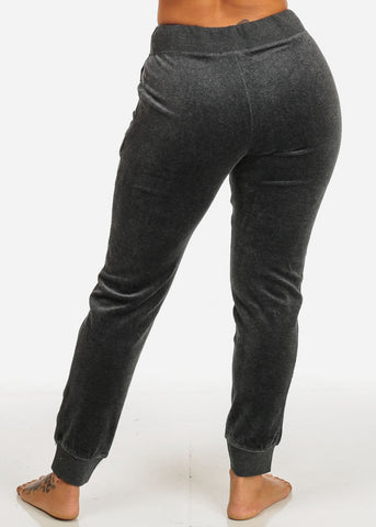 Image of Velvet Charcoal Jogger Pants