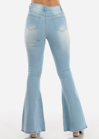 Image of Light High Rise Bell Bottom Jeans