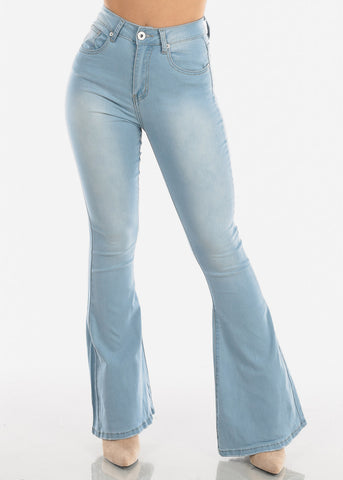 Light High Rise Bell Bottom Jeans