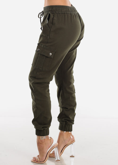 Olive Cargo Jogger Pants