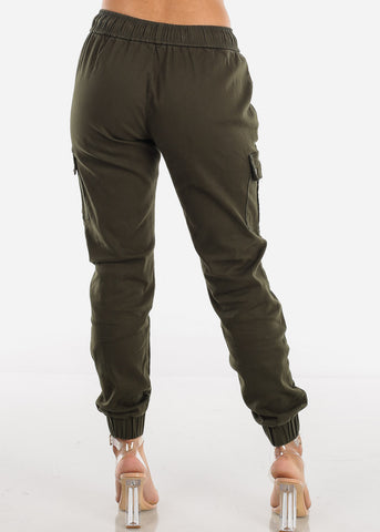 Image of Olive Cargo Jogger Pants