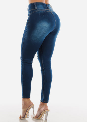 Image of Levanta Cola Torn Dark Skinny Jeans