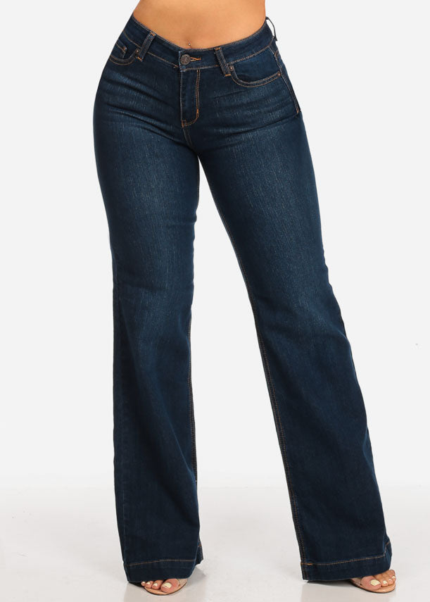 High Rise Dark Wash Flare Jeans