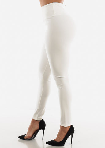 White High Waist Pants
