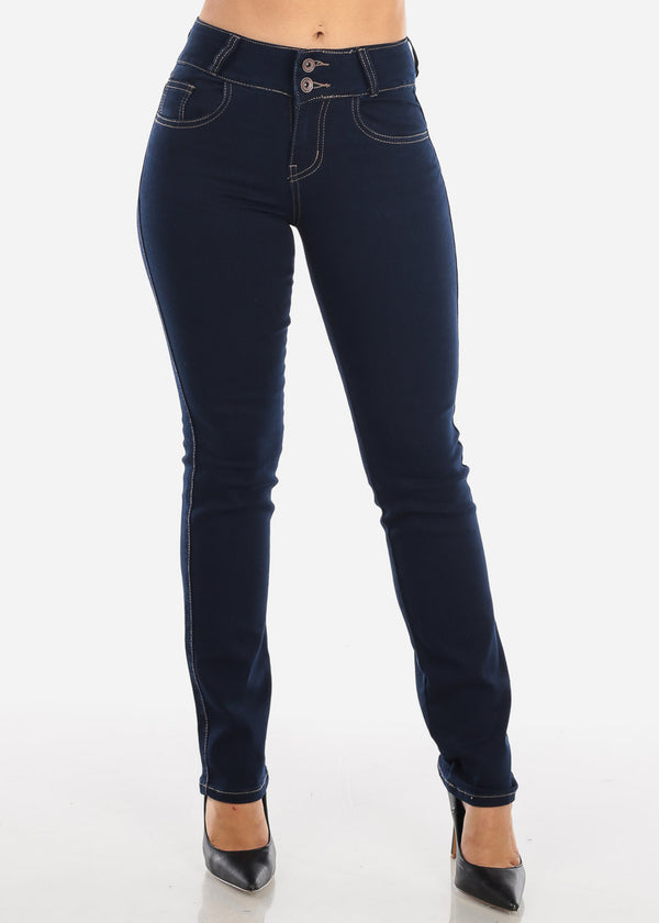 Mid Rise Dark Wash Bootcut Jeans