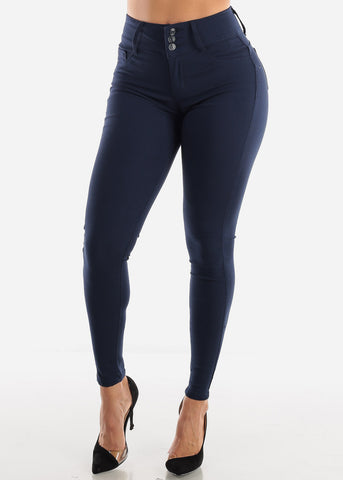 Navy Butt Lift Pants