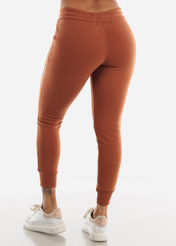 Image of Stripe Sides Cinnamon Jogger Sweatpants