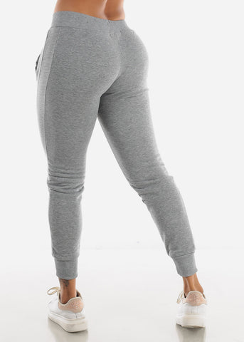 Image of Light Grey High Rise Jogger Sweatpants