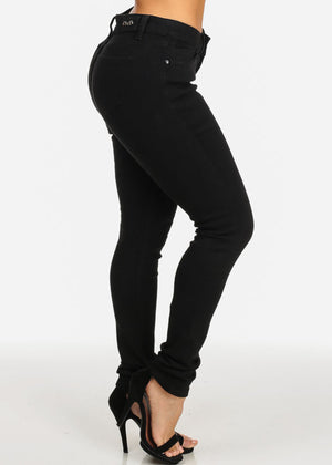 Slim Black High Rise Skinny Jeans