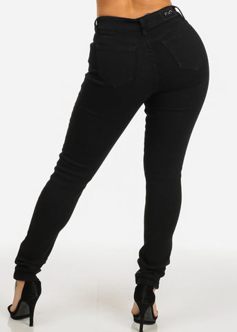 Image of Slim Black High Rise Skinny Jeans