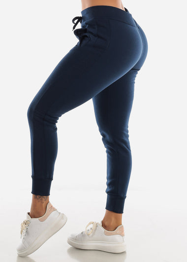 Navy High Rise Jogger Sweatpants