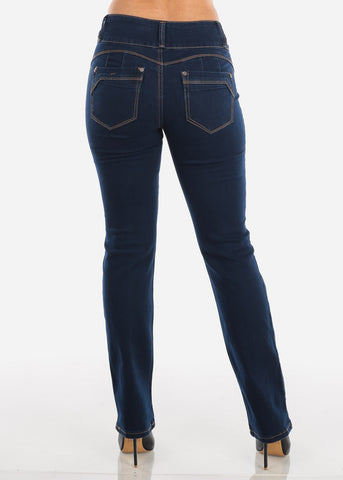 Image of Dark Wash Levanta Cola High Rise Bootcut Jeans
