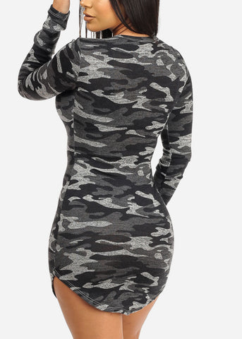 Image of Sexy Camouflage Print Dress