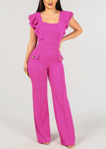 Image of Sexy Fuchsia Jumpsuit