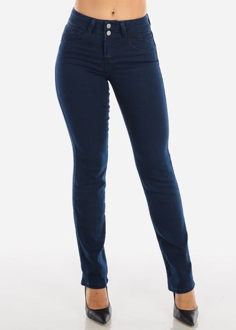 Butt Lifting Dark Navy Bootcut Jeans