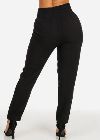 High Rise Black Pants