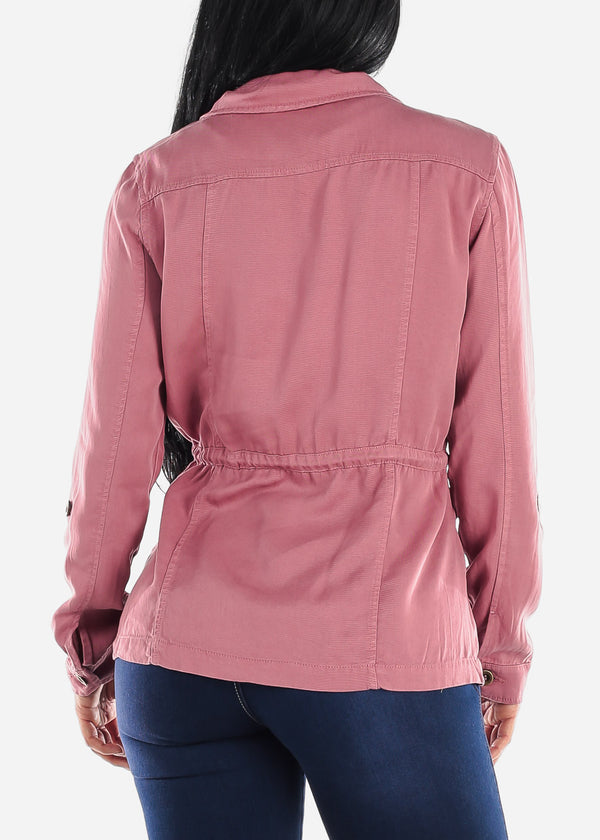 Long Sleeve Mauve Anorak Jacket