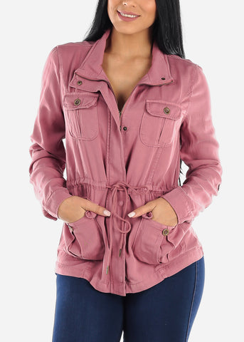 Image of Long Sleeve Mauve Anorak Jacket