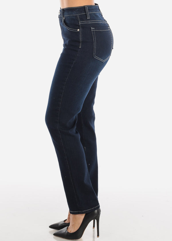 High Rise Bootcut Dark Wash Mom Jeans
