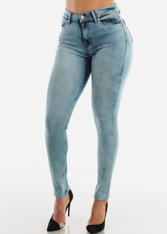 Acid Wash Butt Lifting Jeans