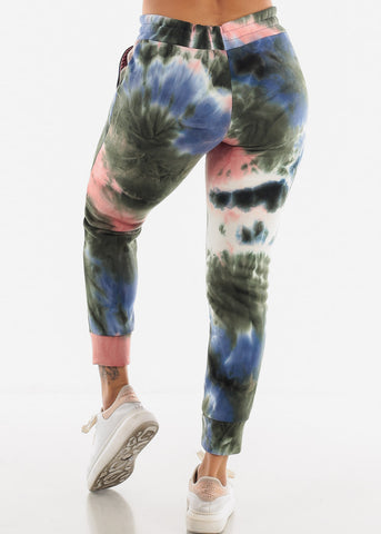 Image of Blue Tie Dye Sweatpants