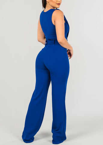 Sexy Royal Blue Jumpsuit