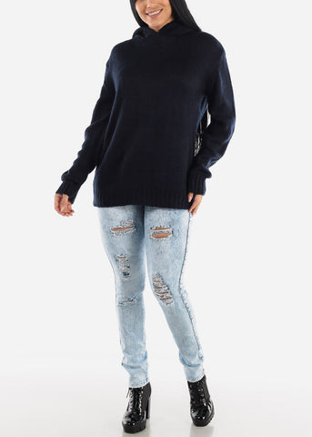 Image of Faded Torn Butt Lifting Skinny Jeans