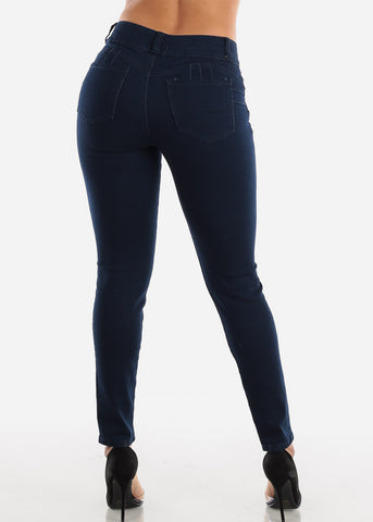Butt Lifting Dark Navy Skinny Jeans