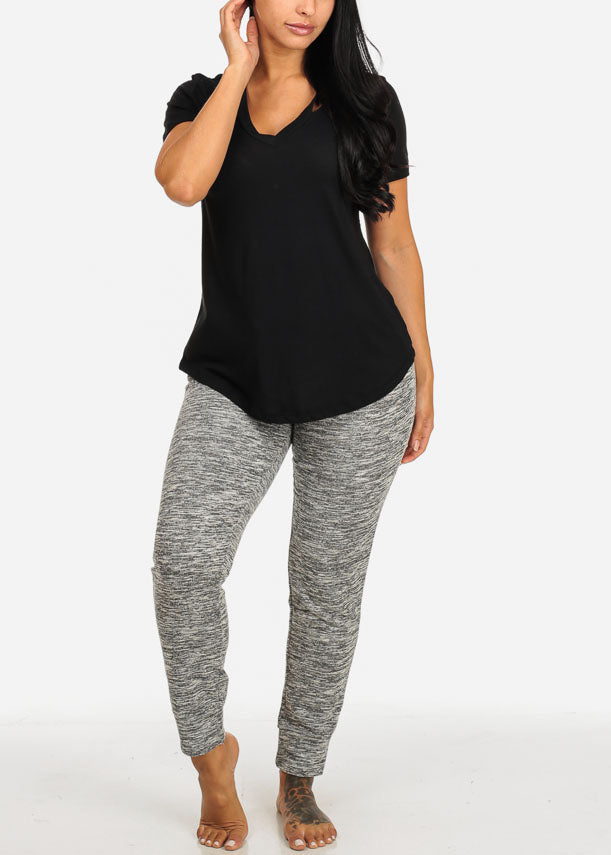 Casual High Rise Grey Jogger Pants