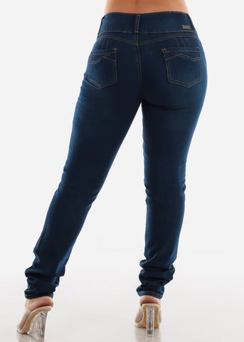 Image of Dark Wash High Rise Skinny Jeans SIZES 13-15-17