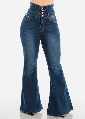 High Rise Dark Wash Bell Bottom Jeans