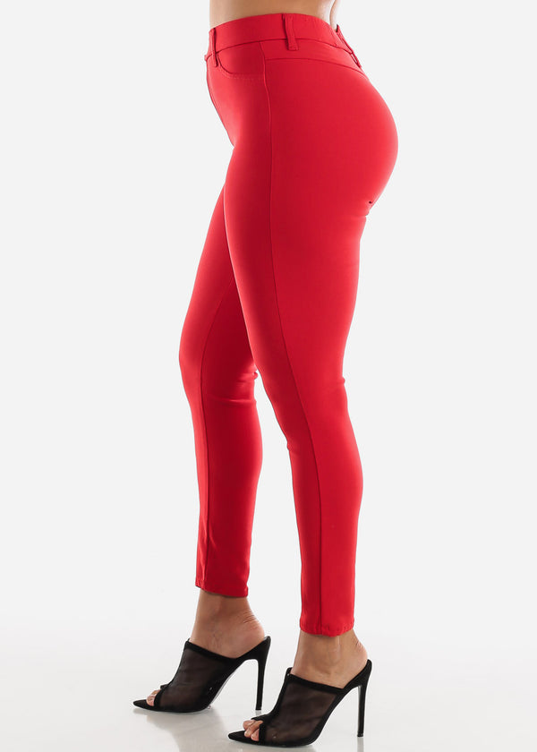Red Jegging Skinny Pants