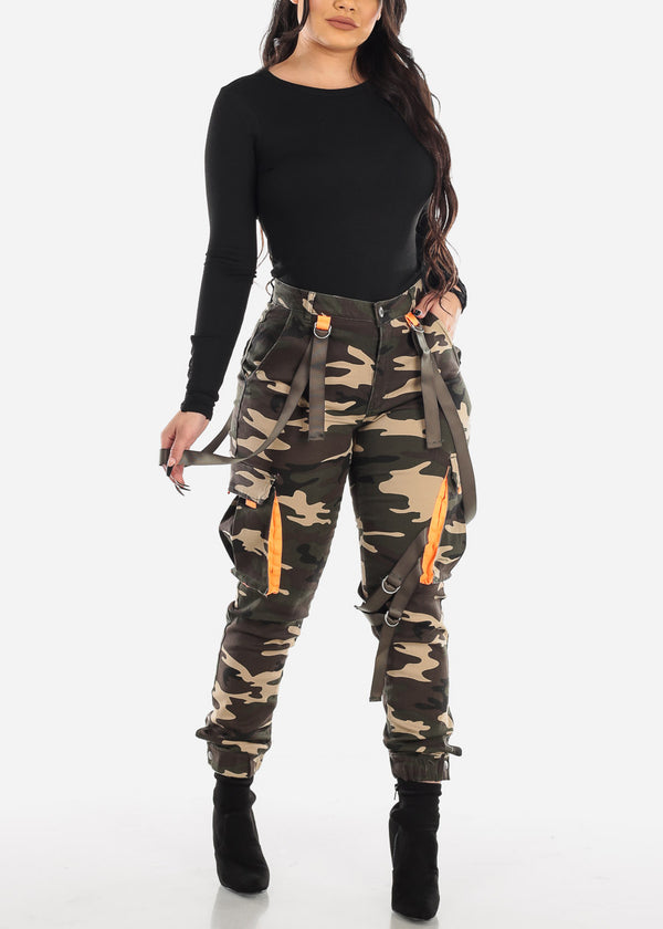 Camouflage Cargo Joggers Pants