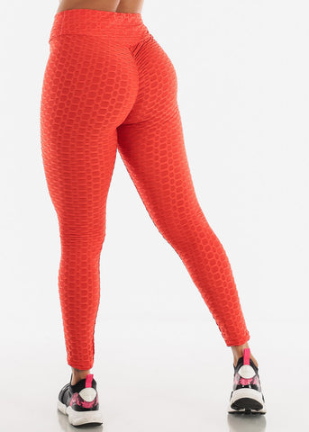 Image of Anti Cellulite Red Hoodie & Leggings  (2 PCE SET)