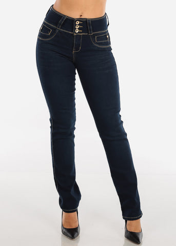 High Rise Dark Wash Bootcut Levanta Cola Jeans
