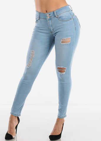 Image of Levanta Cola Ripped Light Skinny Jeans